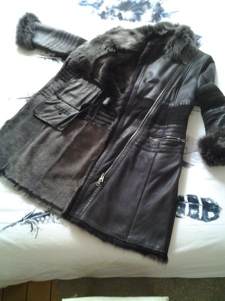 Manteau cuir et peau VENCOUVERT 950 Vannes (56)