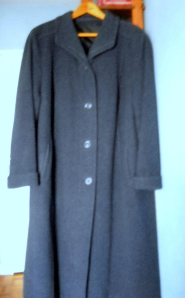 Manteau droit pour femme bleu chiné gris 50 Paris 13 (75)