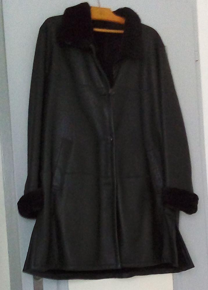 Manteau femme cuir noir 50 Saint-Maurice-de-Cazevieille (30)