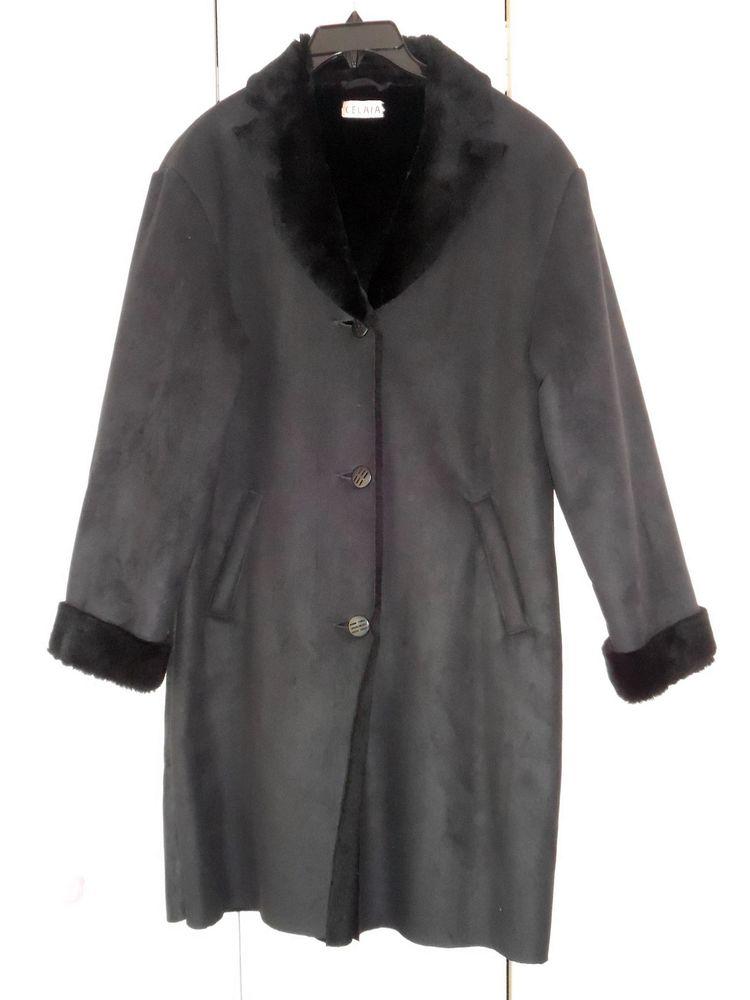 Manteau femme effet peau lainée taille 42 NEUF noir 30 Calais (62)