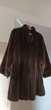 Manteau femme fourrure synthétique imitation vison marron.