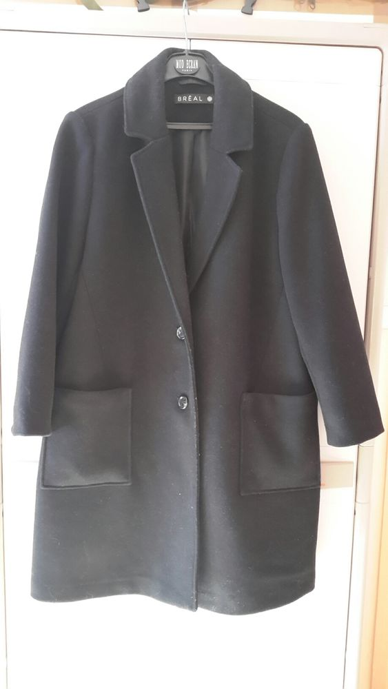 Manteau femme lainage noir 50 Château-Gontier (53)