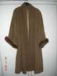 Manteau femme en laine et cachemire ,manches avec vison Boulogne-Billancourt (92)