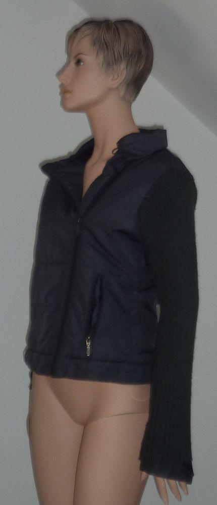 manteau femme les Ka milano T M 38 40 bi matiere gris 3 Bonnelles (78)