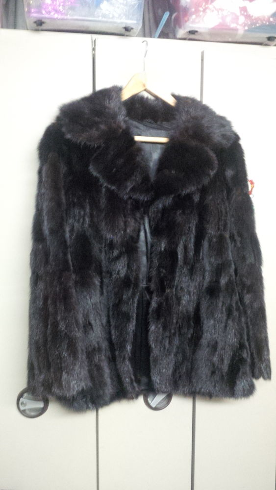 Manteau femme vison noir 0 Gardanne (13)