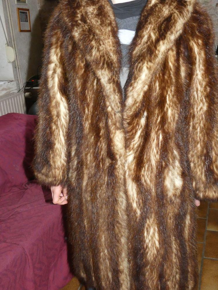 manteau fourrure synthétique femme marron foncé 0 Wattrelos (59)