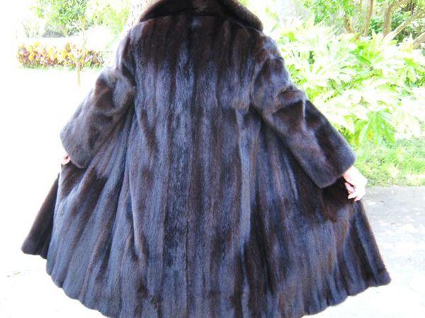 Manteau de fourrure Vison noir 1500 Nice (06)
