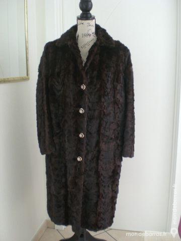 83bd8a9302f Manteau fourrure. vison brun long. taille 42 44