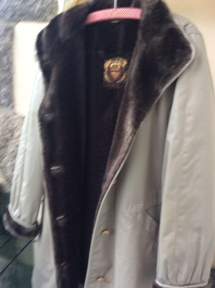 manteau imperméable belle fourrure intérieur très très peu porté 40 Dinan (22)