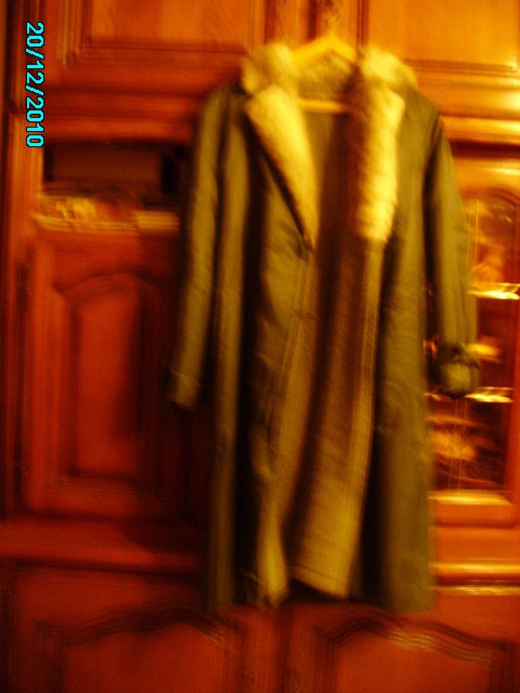 MANTEAU LONG IMPERMEABLE KAKI  FOURREE 30 Chartres (28)