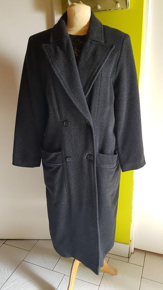 Manteau long laine et cachemire vintage (42/44) 42 Triel-sur-Seine (78)
