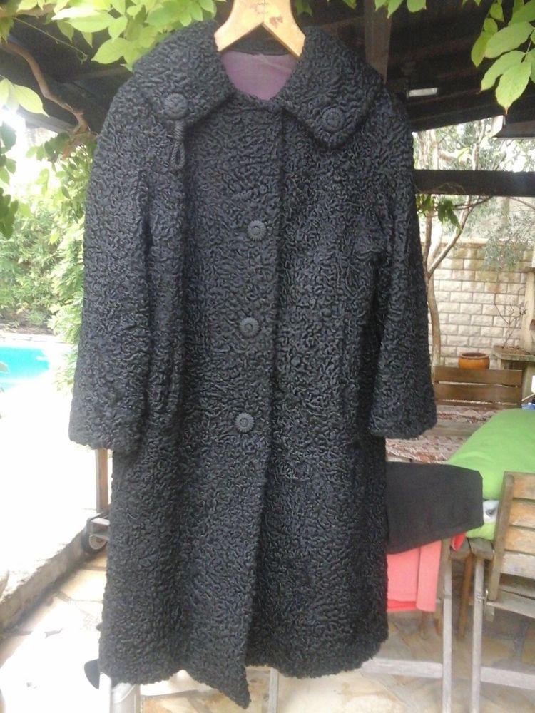 manteau long noir d'astrakan pour femme 300 Montpellier (34)