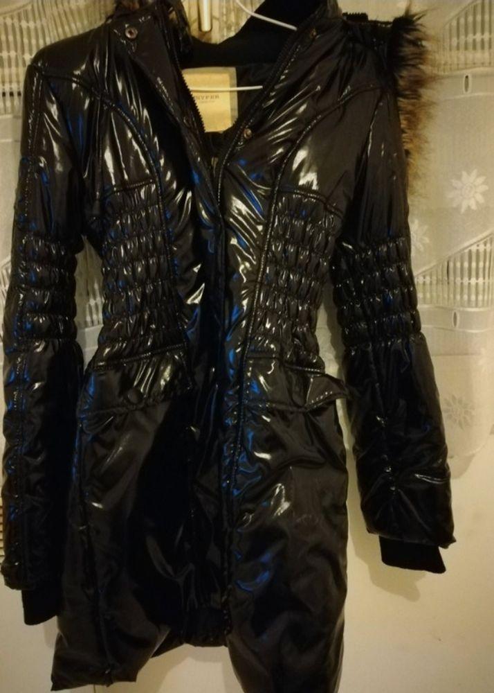 Manteau long noir brillant Jennyfer 10 Ancenis (44)