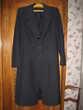 Manteau  noir 45% laine peignée Taille 40