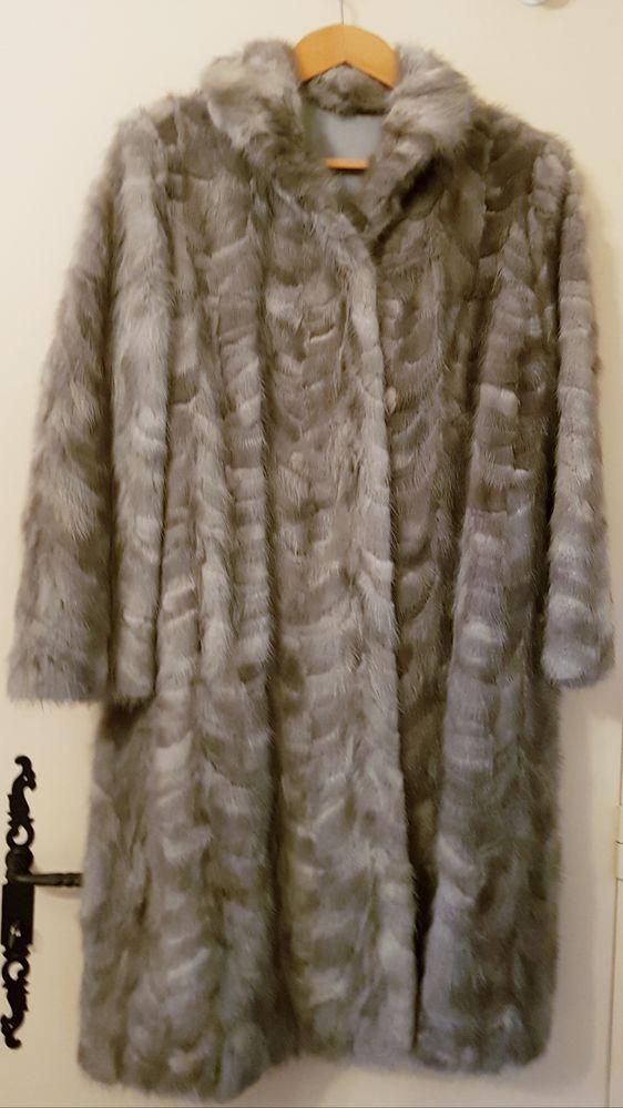 Manteau en pattes de vison gris 1000 Marignane (13)