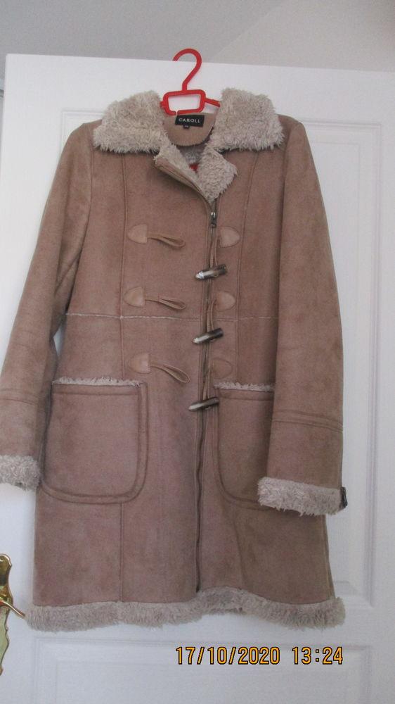 manteau en peau retournée camel marque caroll taille 38 50 Perpignan (66)