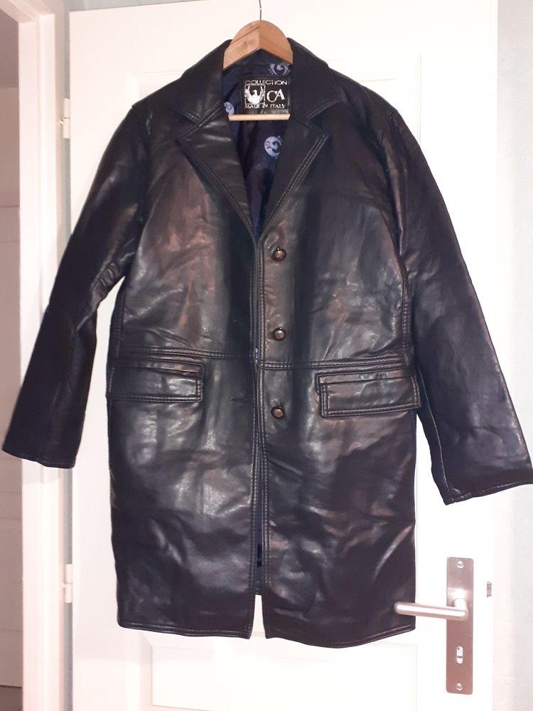 Manteau/veste en cuir souple noir Femme 60 Montcarra (38)