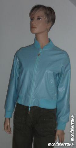 manteau veste FOXY T1 bleu ciel t 136 / 38 Vêtements