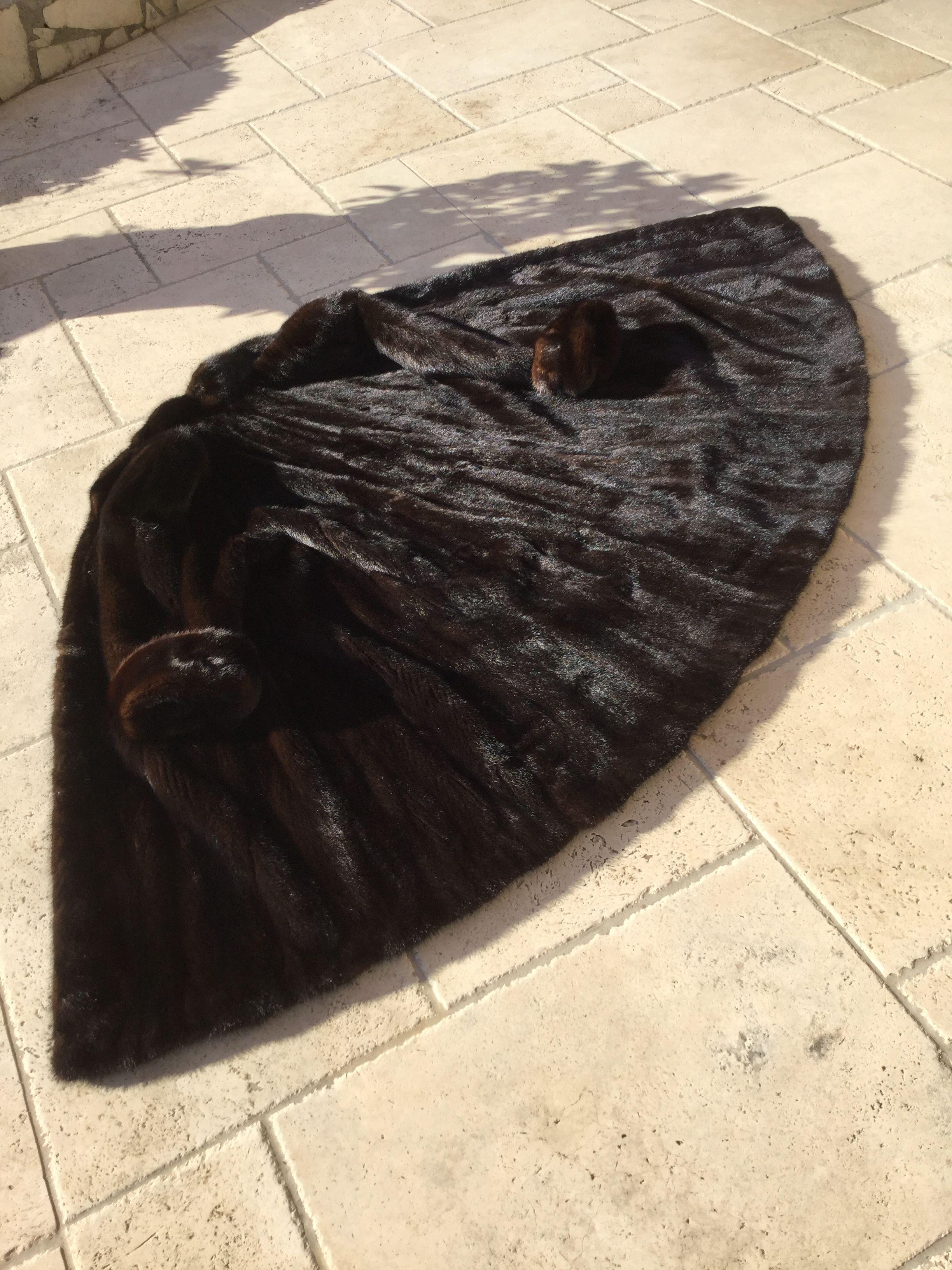 Manteau vison véritable long 2950 Vence (06)