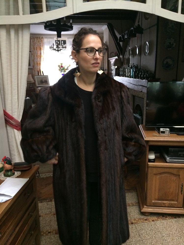 manteau de vison (vraie fourrure)  0 Faches-Thumesnil (59)