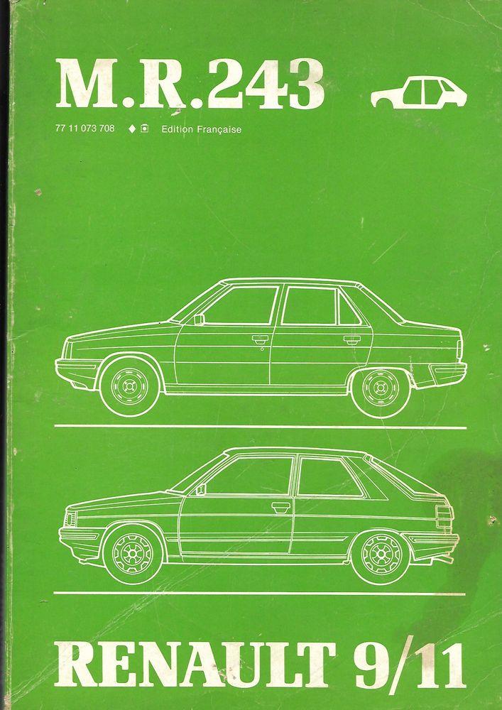 manuel d'atelier Renault carrosserie R9 et R11  10 La Fontonne (06)