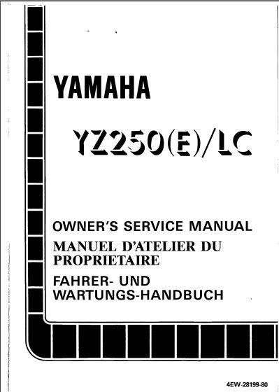 Manuel d'atelier yamaha 250 YZ  1993 582 pages 10 Badaroux (48)