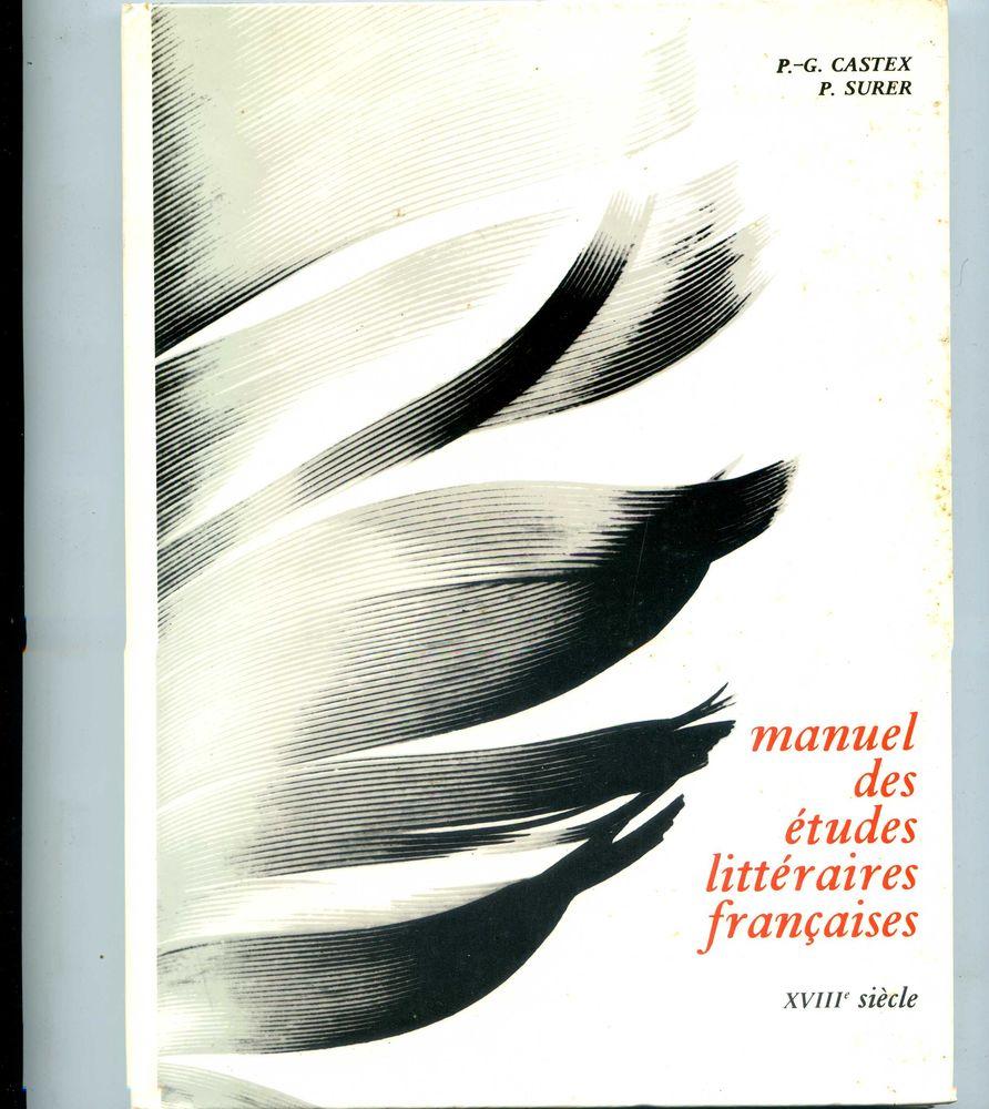 MANUEL DES ETUDES littéraires françaises du 18e siècle 3 Rennes (35)