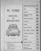 Manuel de réparation Renault Floride caravelle  20 Avignon (84)