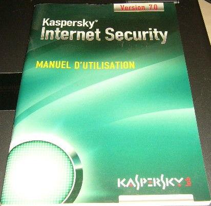 Manuel d'utilisation internet Karpersky Matériel informatique