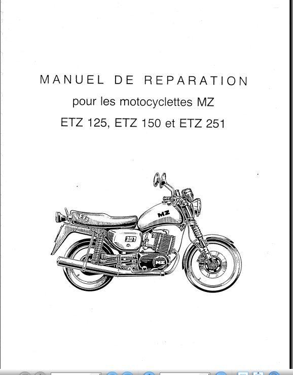 Manuels d'atelier MZ  125 et 250 ETZ  10 Melun (77)