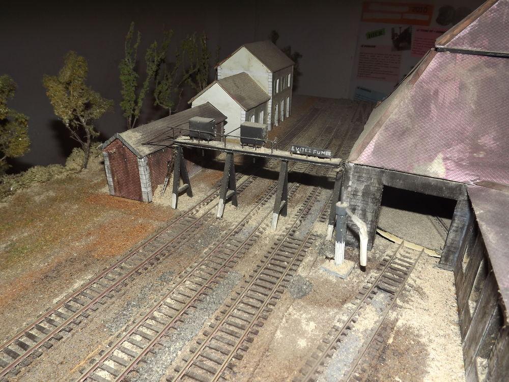 Maquette du dépôt SNCF de Nogent Vincennes en HO 100 Carnoules (83)