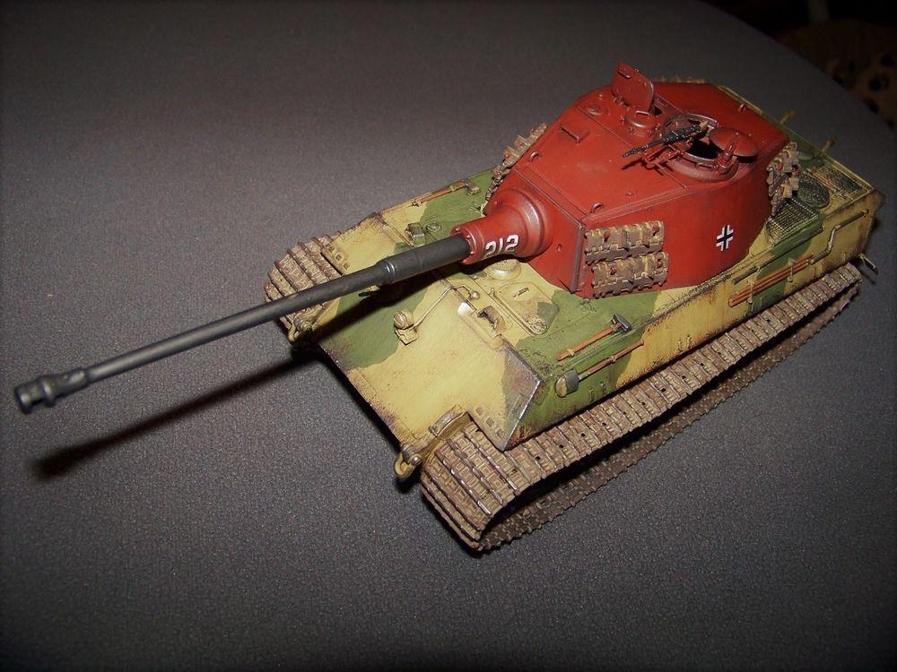 Maquette monter et peinte du char Allemand ..Pz.Kpfw.V Sd.Kf 130 Marseille 6 (13)