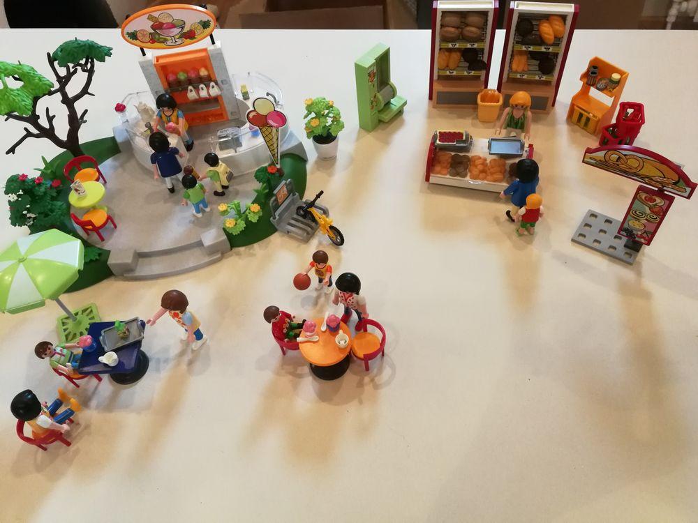 Lot Marchand de glaces et Boulangerie Playmobil 25 Reims (51)