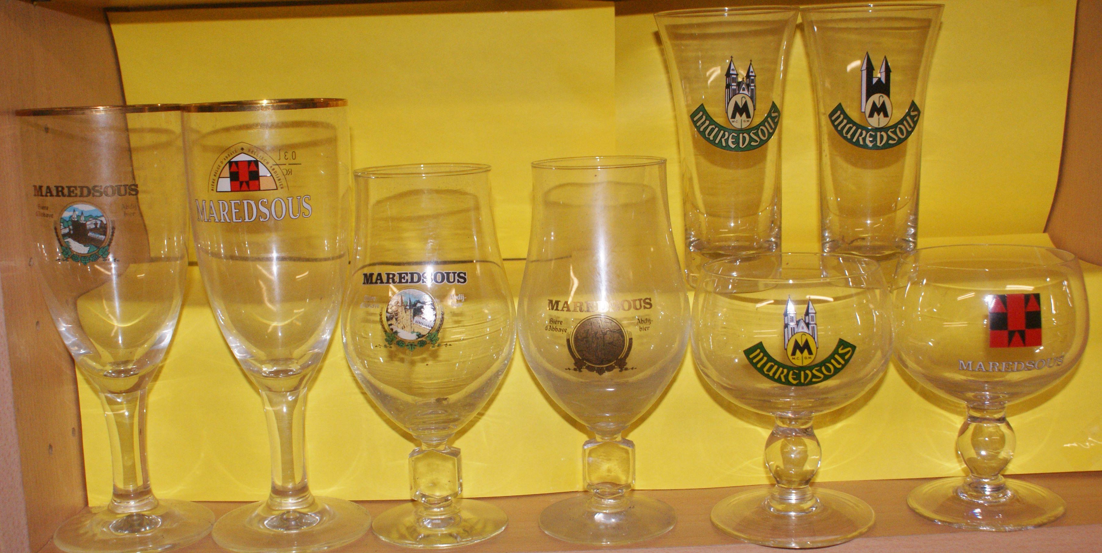 MAREDSOUS verres bière collector 4 Montcy-Notre-Dame (08)