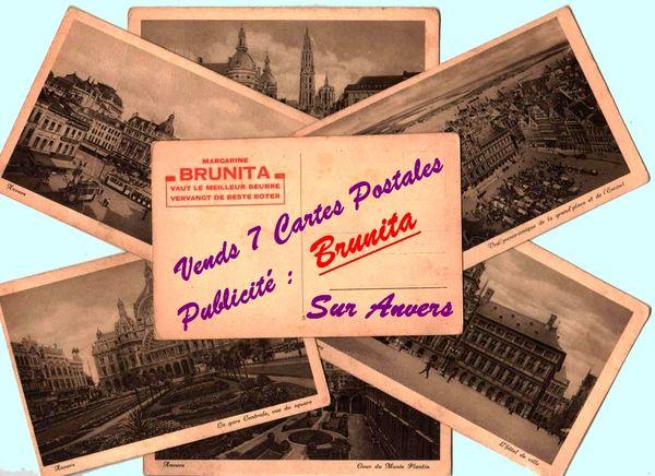 MARGARINE BRUNITA - CP / prixportcompris 50 Lille (59)