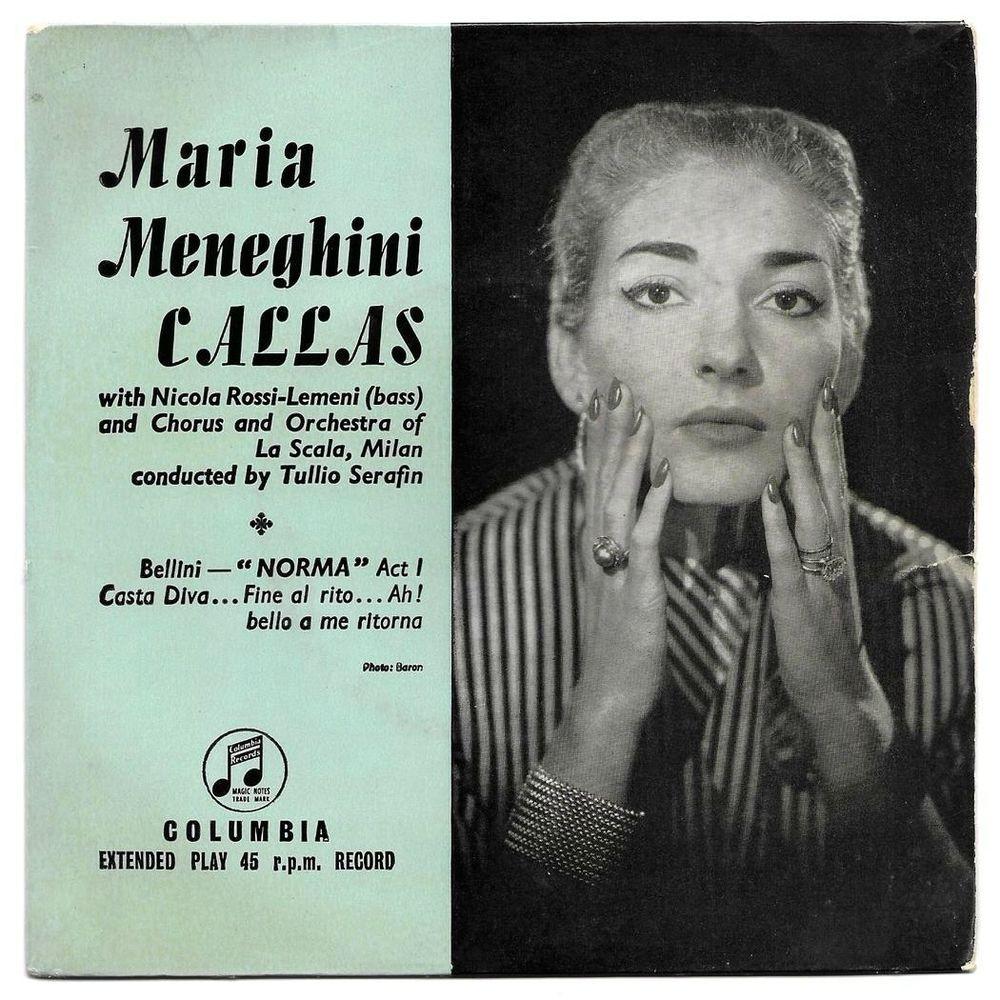 MARIA CALLAS + La SCALA MILAN -45t EP-NORMA- Press.UK 1956 4 Tourcoing (59)