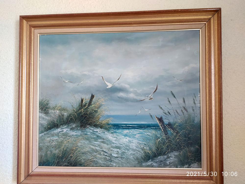 Marine MER ORAGEUSE peinture sur toile enchassée 50x60 cm 80 Nîmes (30)