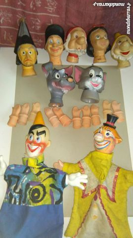 Lot de marionettes anciennes.Walt Disney 65 Lys-lez-Lannoy (59)
