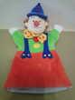 Marionnette de clown hauteur 27,5 cm - TBE