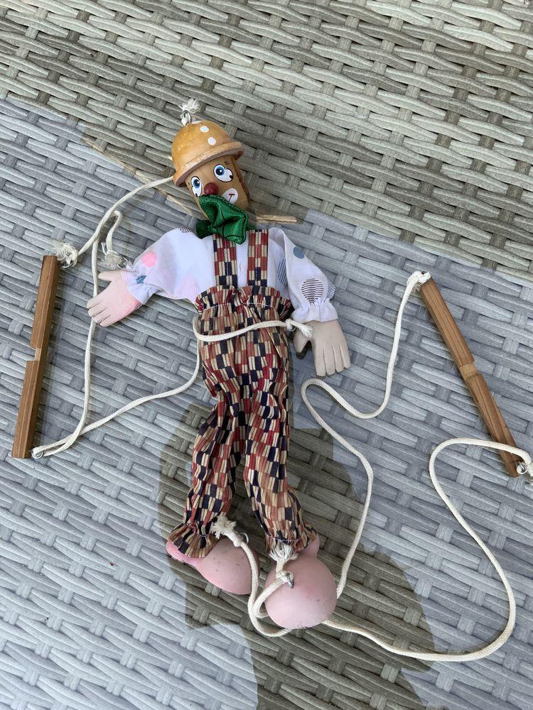 Marionnette clown véritable en bois  10 Lamorlaye (60)