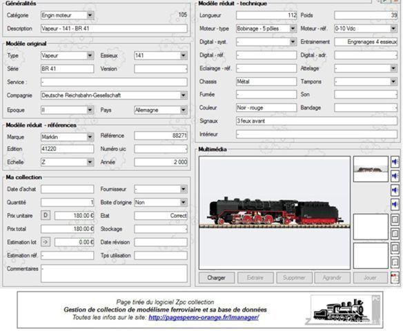 MARKLIN ECHELLE Z - Réf 88271 - 1 Loco vapeur BR41 80 Paris 1 (75)