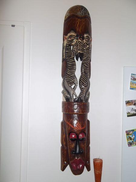 Masque africain hauteur 100 cm 10 Halluin (59)