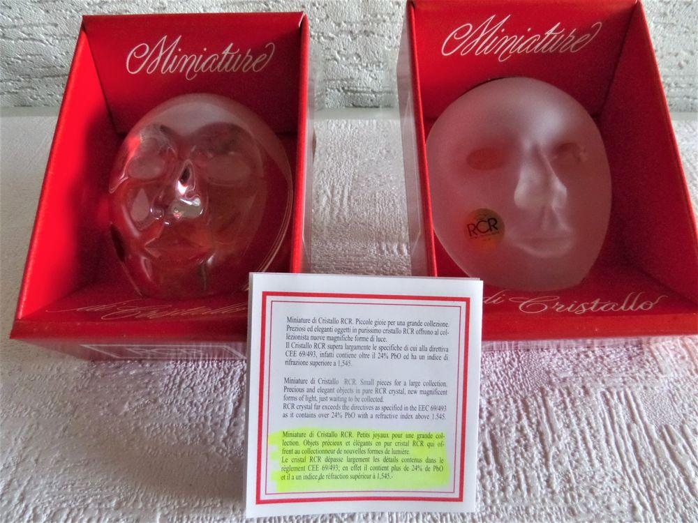 masque miniature en cristal 15 Lyon 8 (69)