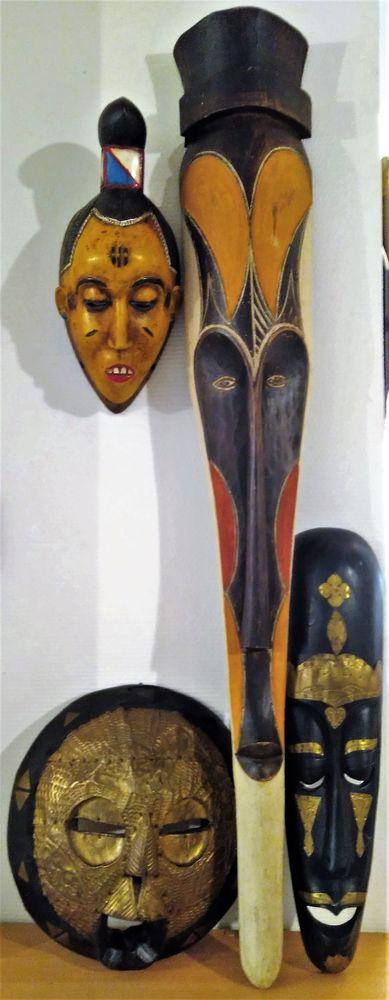 Lot de 4 masques africains (pas de reproduction) 50 Cenon (33)