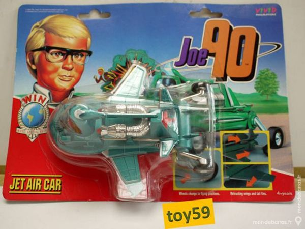 JOE 90 Matchbox 90's die-cast/metal JET AIR CAR 90 Mons-en-Barœul (59)
