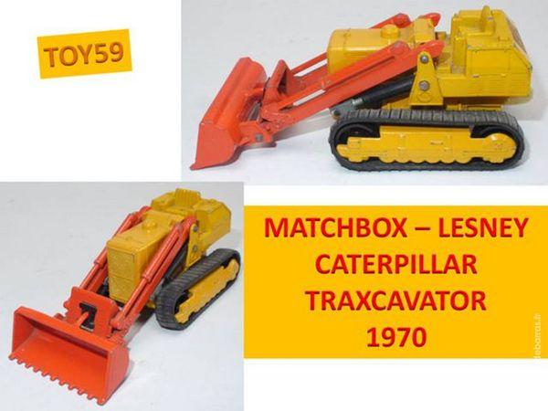 MATCHBOX -King size - CATERPILLAR TRAXCAVATOR 25 Mons-en-Barœul (59)