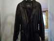 maxi      manteau en cuir noir Amnéville (57)