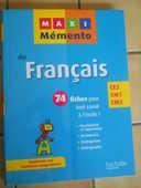 MAXI MEMENTO DE FRANCAIS CHEZ HACHETTE CE2 CM1 CM2 6 Semoy (45)