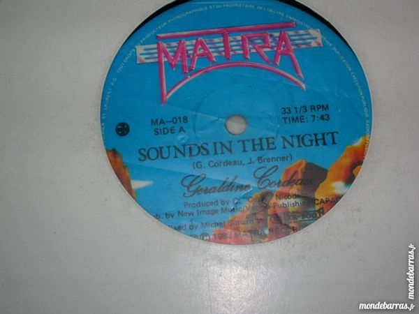 MAXI 45 TOURS GERALDINE CORDEAU Sounds in the night CD et vinyles