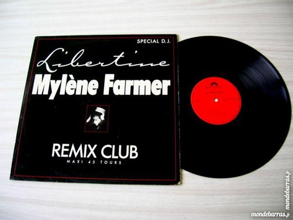 MAXI 45 TOURS MYLENE FARMER Libertine Remix Club 55 Nantes (44)